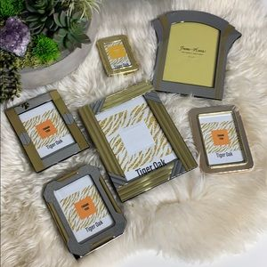Other - Set of 6 Gold & Silver Picture Frames